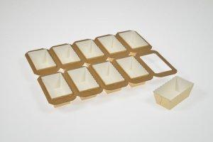 Mini-Cake-Papierbackformen, 4 x 10 Stück, 10x5x4cm (LxBxH)
