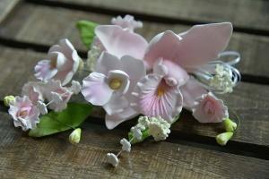 Zucker-Orchideen rosa, 18 cm