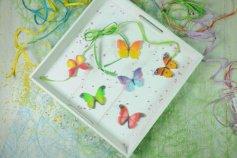 Schmetterling 3D Oblaten-Aufleger, 12 Stck. sortiert