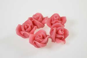 Marzipanrosen rosa 16 Stück Ø 3,5 cm