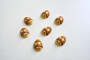 Bienen, weiße Schokolade 3,2 x 1,1 cm, 15 Stück