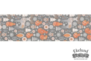 Tischläufer, Waldtiere, 100% Bio Baumwolle, 35x120 cm