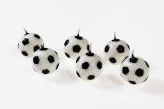 Fußball-Kerzen, 6 Stck., Ø 3 cm