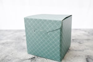 Geschenk-Box, grün 17 x 17 x 17 cm