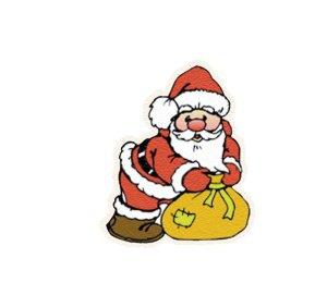 Weihnachtsmann Zucker-Aufleger, 16 Stück,  4,5 cm