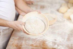 Gärkorb rund aus Peddigrohr für Brote bis 1000 g