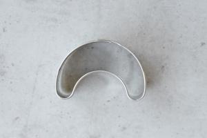 Ausstecher Kipferl klein, Edelstahl, 4 cm