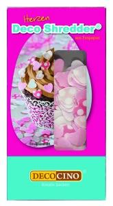 Streudekor Herzen, Esspapier, rosa/weiß, 5 g