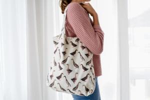 Einkaufstasche, Ente, 80% Baumwolle, 20% PY, 40x40x8cm