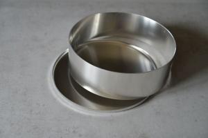 Unterblech mit Rand, aus ALU, 26,5 cm für 26 cm Ringe