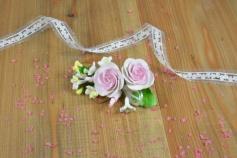 Zuckerrosen rosa, 14 cm