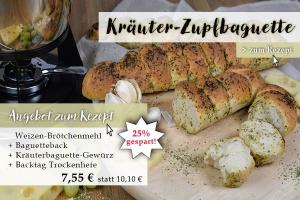 Baguetteback+Kräuterbaguettegewürz + Weizenmehl Type 550