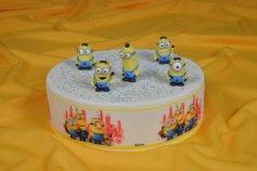 Minions Figuren aus Zucker, 4 - 5,5 cm hoch, 5 Stück