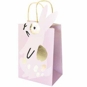 Geschenktüte, Hase, Papier, rosa, 18x35,5x12 cm