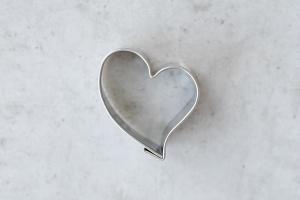 Ausstecher Herz mit Schwung 3,5 cm