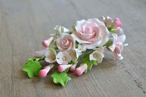 Zucker-Rosen weiß/rosa, 19 cm