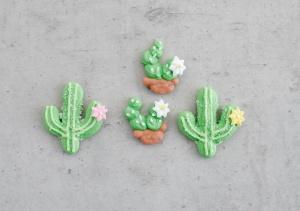 Zuckerdekor Kaktus-Set, sortiert, 16 Stück