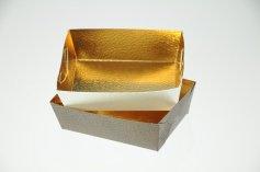 Gebäckschale braun+weiß 10x7x 3,5cm, 10 Stück, 5 je Farbe
