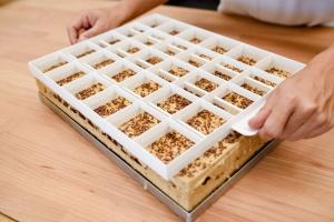 Blechkuchen-Einteiler und Teigschneider für 24 oder 30 Stück