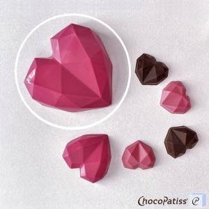 Schokoladenform geometrisches Herz, M, 10x10x3 cm