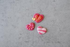 Zuckerdekor Herzen, 6 Stück