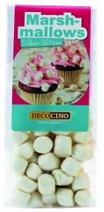 Marshmallow mini, silber Glitzer, 30 g