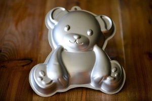 Kuchenform Teddybär 3D aus Aluminium, 27x26x7 cm