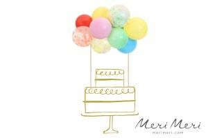 Meri Meri Cake Topper 11 Luftballons, bunt