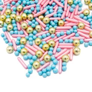 Streusel Mix Happy Princess, rosa/blau/gold 190 g