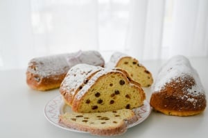 Backset Weihnachten: Quarkstollen