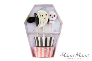 Meri Meri Cupcake Halloween, Muffinform + Deko