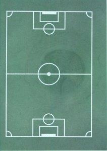 Fußballfeld Oblaten-Aufleger 30 x 20 cm
