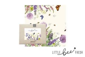 Bienenwachstuch, bunte Blumenwiese, Gr. L, 35 x 35 cm