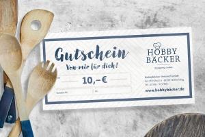Geschenk-Gutschein -10 Euro- für alle Hobbybäcker Artikel