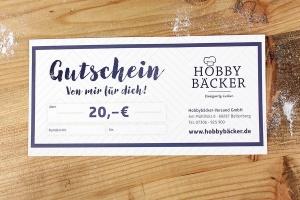 Geschenk-Gutschein -20 Euro- für alle Hobbybäcker Artikel