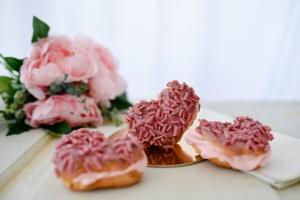 Schoko-Löckchen Ruby, rosa Schokolade, 160 g Dose