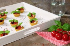 Tartelettes Mini-Snack Tomate/Basilikum, Ø 4,2 cm, 32 Stück