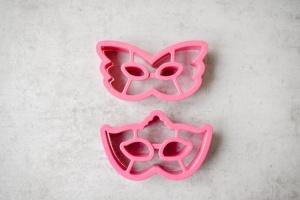 Ausstecher Venezianische Masken, 2 -teilig