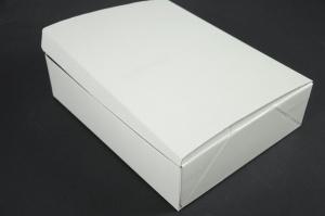 Geschenk-Box, weiß strukturiert 30 x 24 x 8 cm