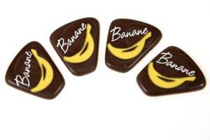 Schoko-Dekor-Aufleger Banane 28 Stück 29 x 35 mm