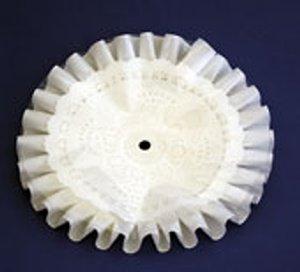Rüschen-Rondell weiß fettdicht Ø 40 cm, Unterseite Karton