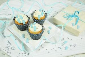 Babyfüße blau, Zucker-Aufleger, ca. 2,5 cm, 12 Paar