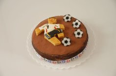 Fußball-Oblaten-Aufleger, 16 Stück,  Ø 4 cm