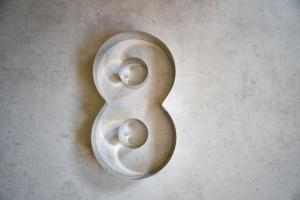 Zahlen-Backrahmen Ziffer -8-  Edelstahl