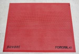 Silikon-Backmatte gelocht rot, antihaft, 38,5 x 28,5 cm