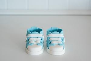 Baby-Schuhe aus Zucker, hellblau, 1 Paar