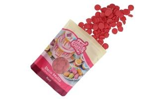 Schmelzschokolade rote Fettglasur, 250 g