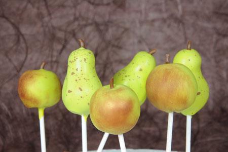 Apfel und Birnen Cake Pops