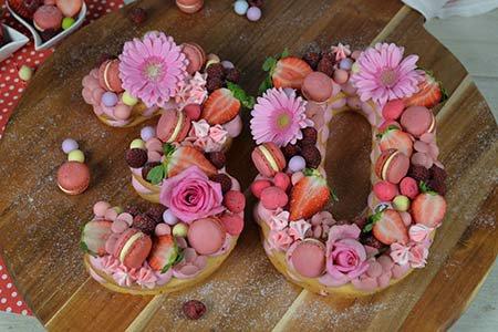 Number Cake Erdbeer