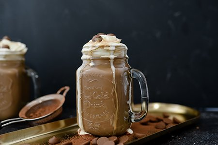 Heiße Cappuccinoschokolade
